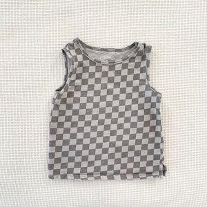 Art Class Boys Checkered Tank